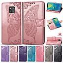 voordelige Huawei Honor hoesjes / covers-koffer voor huawei mate 20 lite / y7 pro (2019) reliëf / magnetische / shockproof full body koffers butterfly / effen gekleurde harde pu leer voor huawei y3 (2017) / y3 (2018) / honor 20i / nova 3i /