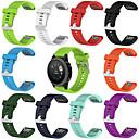رخيصةأون أساور ساعات Garmin-20MM استبدال السيليكون لينة حزام ساعة ل GARMIN فينيكس 5S صالح سريع