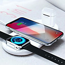 voordelige iPhone 5 hoesjes-floveme 3 in 1 draadloze oplader voor apple mobiele telefoon iwatch airpods 7.5w / 10w snel opladen voor iphone 11 pro max / 11 pro / 11 / xs / xs max / xr / x iwatch 5/4/3/2/1 airpods 2 pro