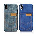 رخيصةأون أغطية أيفون-حافظة لابل اي فون xs max / iphone 8 plus للصدمات / حامل البطاقة غطاء خلفي من نسيج ناعم ملون لآيفون 7/7 بلس / 8/6/6 بلس / xr / x / xs
