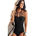 رخيصةأون قلادات-أسود M L XL لون سادة, ملابس السباحة قعطة واحدة أسود نبيذ أزرق البحرية نسائي