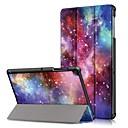 voordelige Galaxy Tab A 9.7 Hoesjes / covers-hoesje Voor Samsung Galaxy Tab S4 10.5 (2018) / Tab A2 10.5(2018) T595 T590 / Samsung Tab S5e T720 10.5 Schokbestendig / Flip / Origami Volledig hoesje Landschap Hard PU-nahka