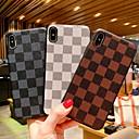 voordelige iPhone 6 Plus hoesjes-hoesje Voor Apple iPhone XR / iPhone XS Max / iPhone X Schokbestendig / Patroon Achterkant Geometrisch patroon Hard PU-nahka