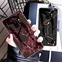 رخيصةأون حافظات / جرابات هواتف جالكسي S-غطاء من أجل Samsung Galaxy S9 / S9 Plus / S8 Plus نموذج غطاء خلفي لون سادة قاسي زجاج مقوى