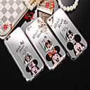 رخيصةأون شواحن USB-غطاء من أجل Apple iPhone XS / iPhone XR / iPhone XS Max حامل الخاتم / مرآة / نموذج غطاء خلفي كارتون ناعم TPU
