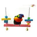 رخيصةأون إكسسوارات الطيور-متعة pets® طويلة ملونة جسر معلق مع أجراس معلقة قفص للطيور (لون عشوائي)
