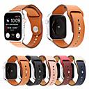 voordelige Apple Watch-bandjes-echt leer klinknagel stijl horlogeband voor apple horlogeband serie 4 3 2 1 armband heren / dames lederen band 44mm / 40mm / 38mm / 42mm