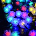 رخيصةأون المفكات & مجموعات المفكات-6M أضواء سلسلة 30 المصابيح تراجع LED أبيض دافئ / أبيض كول / أزرق الطاقة الشمسية / حزب / ديكور 2 V 1PC / IP65