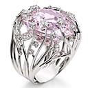 povoljno Prstenje-Žene Band Ring Prsten Kubični Zirconia 1pc Pink Drago kamenje i kristali Kamen Geometric Shape Stilski Luksuz Party Dar Jewelry Cool