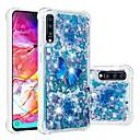 voordelige Galaxy S-serie hoesjes / covers-hoesje Voor Samsung Galaxy A6 (2018) / A6+ (2018) / Galaxy A7(2018) Schokbestendig / Stromende vloeistof / Transparant Achterkant Vlinder / Glitterglans Zacht TPU