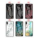 voordelige iPhone-hoesjes-hoesje voor apple iphone xs max / iphone 8 plus patroon / shockproof achterkant marmeren hard gehard glas voor iphone 7/7 plus / 8/6/6 plus / xr / x / xs