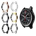 رخيصةأون شرائط ضوء مرنة LED-العتاد s3 سامسونج غالاكسي ووتش 46mm 42mm حالة reloj تبو مطلي قذيفة في جميع أنحاء