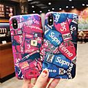 voordelige iPhone-hoesjes-hoesje voor apple iphone xr / iphone xs max patroon / frosted achterkant woord / zin harde pc voor iphone x xs 8 8plus 7 7plus 6 6s 6plus 6s plus