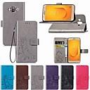 رخيصةأون حافظات / جرابات هواتف جالكسي J-غطاء من أجل Samsung Galaxy J7 Duo / J7 Prime / J7 (2018) محفظة / مع حامل / قلب غطاء كامل للجسم لون سادة / فراشة / زهور قاسي جلد PU
