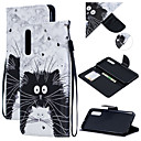 voordelige Galaxy A7(2016) Hoesjes / covers-case voor Samsung Galaxy Melkweg a9 (2018) / Galaxy a50 (2019) patroon / flip / portemonnee full body koffers cat hard pu leer voor Galaxy a9 (2018) / Galaxy a10 (2019) / Galaxy a30 (2019)
