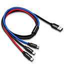 رخيصةأون أندرويد-3 في 1 كبل USB للهاتف المحمول مايكرو USB نوع ج شاحن كابل لفون شحن كابل الحبل الصغير شاحن USB