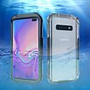 povoljno Maske/futrole za Galaxy S seriju-Θήκη Za Samsung Galaxy Galaxy S10 / Galaxy S10 Plus / Galaxy S10 E Vodootpornost Stražnja maska Jednobojni Tvrdo plastika