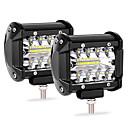 povoljno Krovna rasvjeta-auto rad svjetlo vodio svjetlo bar 2pcs 20led 60w traka svjetlo 4 inčni reflektor modificirani krov svjetlo ip68
