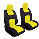 رخيصةأون أغطية مقاعد السيارات-4 قطعة / المجموعة العالمي سيارة المقعد الأمامي وسادة غطاء الرأس وسادة غطاء تنفس القماش غطاء مقعد وسادة مجموعة