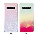 رخيصةأون مخففات التوتر-غطاء من أجل Samsung Galaxy Galaxy S10 / Galaxy S10 Plus / Galaxy S10 E IMD / نموذج غطاء خلفي لون متغاير ناعم TPU