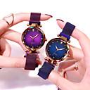رخيصةأون أطقم المجوهرات-أزياء النجوم المرصعة بالنجوم المغناطيسي النساء ساعات عادية تقليد الماس الأزياء ساعة اليد 1 PC التناظرية