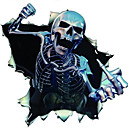 رخيصةأون وشم مؤقت-تصميم فريد من نوعه مضحك الجمجمة الشارات ملصقات جسم السيارة الخدوش الديكور ملصقا