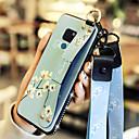 voordelige Galaxy S7 Edge Hoesjes / covers-geval voor huawei honor 10 / huawei mate 20 met standaard / schokbestendige achterkant bloem zacht pu leer voor huawei y7 prime (geniet van 7 plus) / huawei y9 (2018) (geniet van 8 plus) / huawei mate