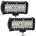 ieftine Becuri De Mașină LED-2pcs 4 inci 72w 4-raze led-uri lumini de bord off-car de top de refit lampă de lucru lumina bar