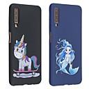 رخيصةأون حافظات / جرابات هواتف جالكسي A-غطاء من أجل Samsung Galaxy Galaxy A7(2018) / Galaxy A9 (2018) / Galaxy A10 (2019) مثلج / نموذج غطاء خلفي حيوان ناعم TPU
