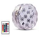 povoljno Vanjski fenjeri-10 vodio daljinski upravljač RGB potopna svjetla baterija podvodna noćna svjetiljka vanjski vaza zdjela vrtna dekoracija stranke