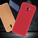 رخيصةأون حافظات / جرابات هواتف جالكسي J-غطاء من أجل Samsung Galaxy J6 (2018) / J6 Plus / J5 (2017) ضد الصدمات / نحيف جداً / مثلج غطاء خلفي لون سادة ناعم TPU