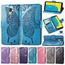 رخيصةأون حافظات / جرابات هواتف جالكسي J-غطاء من أجل Samsung Galaxy J7 (2018) / J6 (2018) / J6 Plus محفظة / حامل البطاقات / ضد الصدمات غطاء كامل للجسم لون سادة / فراشة قاسي جلد PU