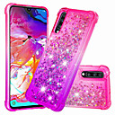 voordelige Galaxy J7 Hoesjes / covers-hoesje Voor Samsung Galaxy Galaxy A7(2018) / Galaxy A9 (2018) / Galaxy A10 (2019) Schokbestendig / Stromende vloeistof Achterkant Glitterglans / Kleurgradatie Zacht TPU