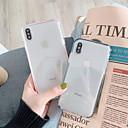 رخيصةأون مستلزمات وأغراض العناية بالكلاب-غطاء من أجل Apple iPhone XS / iPhone XR / iPhone XS Max شفاف غطاء خلفي لون سادة / شفاف ناعم TPU
