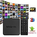 povoljno TV tuneri-mxq 4k android 7.1 2.4g wifi dlna pametni tv kutija rk3229 quad core 1g + 8g set-top box media player