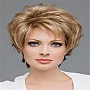 ieftine Peruci & Extensii de Păr-Peruci Păr Uman Kinky Straight Partea centrală Perucă Auriu Lung Auriu Deschis Păr Sintetic 14 inch Pentru femei Dame Auriu