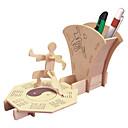 رخيصةأون 3D الألغاز-تركيب خشبي ألعاب المنطق و التركيب وبان قفل برج بناء مشهور الحيوانات من صنع يدوي التفاعل بين الوالدين والطفل خشبي 2 pcs للأطفال للبالغين الجميع ألعاب هدية