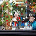رخيصةأون الستائر-عيد الميلاد ندفة الثلج فيلم النافذة&أمبير. ملصقات الديكور عيد الميلاد / عطلة الزهور / هندسية pvc (بولي فينيل كلوريد) نافذة ملصقا
