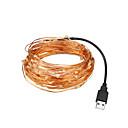 povoljno LED svjetla u traci-LOENDE 5m Žice sa svjetlima 50 LED diode Toplo bijelo / RGB / Bijela Party / Ukrasno / Vjenčanje USB napajanje