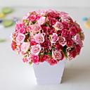 رخيصةأون أزهار اصطناعية-1 قطعة البلاستيك الاصطناعي زهرة 21 الماس روز 7 شوكة الربيع ارتفع صغير روز برعم زهرة اصطناعية