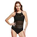 رخيصةأون قلادات-أسود XL XXL XXXL لون سادة, ملابس السباحة قعطة واحدة أسود نسائي