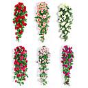 رخيصةأون أزهار اصطناعية-زهور اصطناعية 1 فرع كلاسيكي الزفاف أوروبي الورود الزهور الخالدة أزهار الحائط