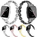 povoljno Remenje za Fitbit satove-sat bend za fitbit versa fitbit nakit dizajn od nehrđajućeg čelika ručni remen metal podesiva legura zamjena manšeta