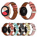 رخيصةأون أساور ساعات لهواتف سامسونج-حزام إلى Gear S2 Classic / Samsung Galaxy Watch 42 / Samsung Galaxy Active Samsung Galaxy بكلة كلاسيكية جلد طبيعي شريط المعصم