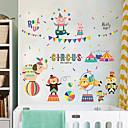 رخيصةأون ديكورات خشب-لواصق حائط مزخرفة - ملصقات الحائط الحيوان حيوانات غرفة النوم / غرفة دراسة / مكتب