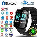 povoljno Smart Wristbands-pametni ručni sat a6s monitor otkucaja srca krvni tlak aktivnost fitness tracker narukvica pametni pojas za ios android