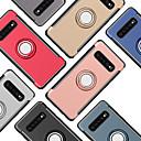 voordelige Galaxy S-serie hoesjes / covers-case voor samsung galaxy galaxy s10 plus / s7 ringhouder achterkant effen gekleurde harde pc voor galaxy s10 / galaxy s10 plus / galaxy s10 e