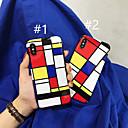 رخيصةأون أغطية أيفون-غطاء من أجل Apple iPhone XR / iPhone XS Max / iPhone X IMD / نموذج غطاء خلفي نموذج هندسي ناعم TPU