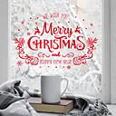 رخيصةأون الستائر-فيلم نافذة وملصقات زخرفة زهري / عيد الميلاد هندسي / عطلة PVC ملصق النافذة