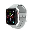 voordelige Apple Watch-bandjes-horlogeband voor apple watch serie 4/3/2/1 appel moderne gesp siliconen polsband